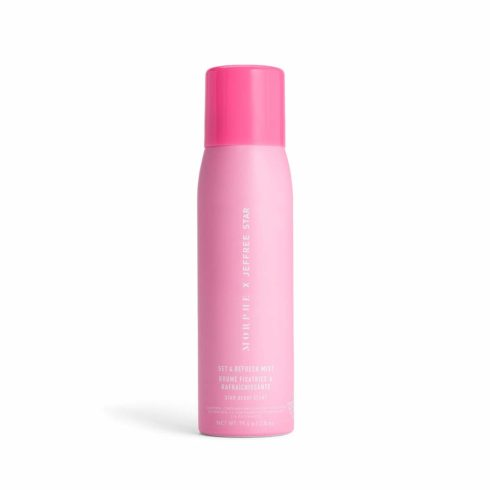 Morphe x Jeffree Star Set & Refresh Mist - Makeup Setting Spray for Dry to Normal Skin Types - Super Light and Hydrating Formula Infused with Glycerin and Vitamin E - Star-berry Scent