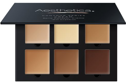Aesthetica Cosmetics Cream Contour and Highlighting Makeup Kit Contouring Foundation Concealer Palette Vegan, Cruelty Free & Hypoallergenic - Step-by-Step Instructions Include