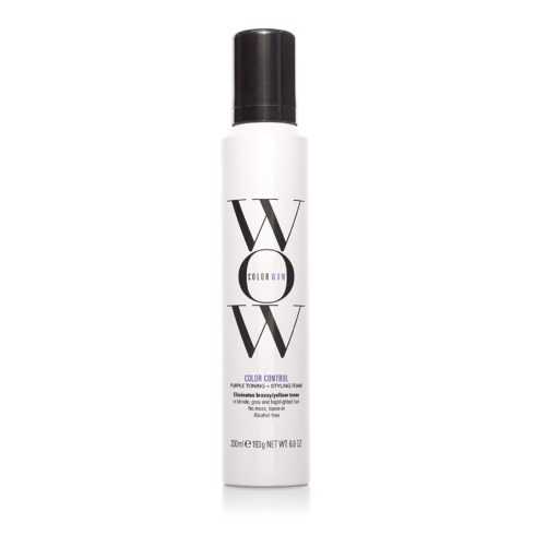 COLOR WOW Color Control Purple Toning + Styling Foam for Blonde Hair, 6.8 oz