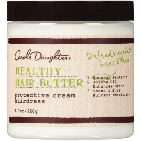 Carol's Daughter Healthy Hair Butter Protective Cream Hairdress Curl Cream with 7 Essential Oils, Shea Butter, and Cocoa Butter 8 Ounce