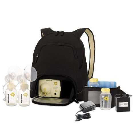 Medela Pump in Style Advanced Breast Pump with Backpack, Double Electric Breastpump, Portable Battery Pack, Adjustable Speed and Vacuum, International Adaptor