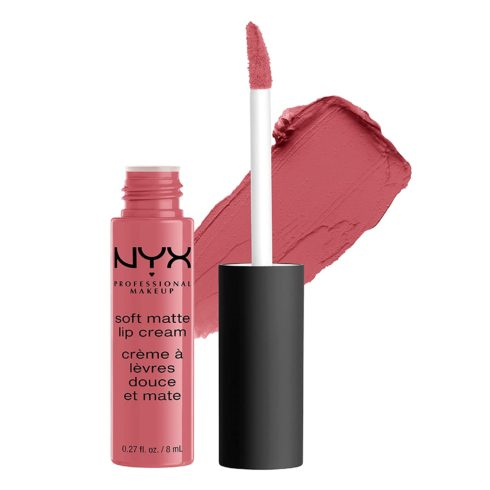 NYX PROFESSIONAL MAKEUP Soft Matte Lip Cream, High-Pigmented Cream Lipstick - Cannes, Matte Muted Mauve