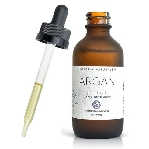 Organic Argan Oil for Hair, Face, Skin & Nails - Extra Virgin - 100% Pure Moroccan Oil - USDA Certified - Premium Grade - Cold Pressed From Morocco - Foxbrim Naturals 2 oz
