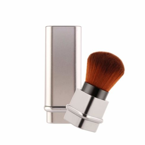 Adjustable Blush Brush Retractable Foundation Blusher Face Powder Beauty Cosmetic Tool (Silver)