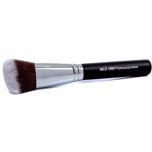 Angled Kabuki Blush Makeup Brush Soft Synthetic Bristles for Applying Blusher Bronzer Contour Highlighter Foundation, Flawless Sculpting, Blending, Buffing Powder, Liquid, Cream, Mineral Cruelty Free