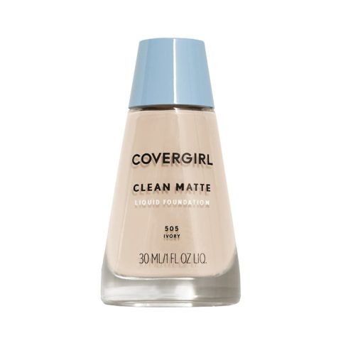 COVERGIRL Clean Matte Liquid Foundation Ivory 505, 1 oz