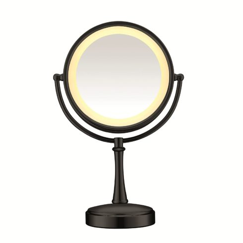 Conair Reflections 3-Way Touch Control Lighted Makeup Mirror, 1x 7x magnification, Matte Black