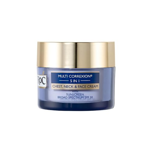 Roc Multi Correxion 5 in 1 Chest, Neck & Face Cream with SPF 30, Hexyl-R Complex & Vitamin E, 1.7 Ounces