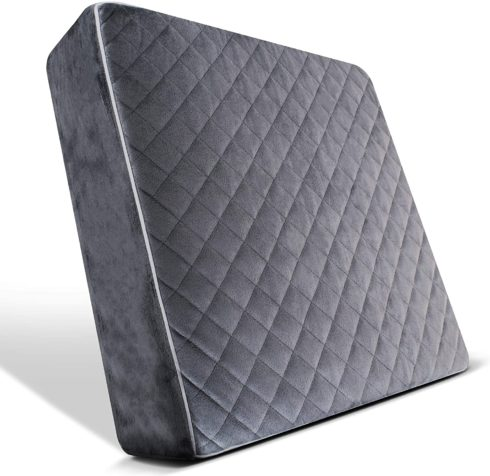 COMFORTANZA Chair Seat Cushion - 16x16x3 Inches Medium Firm Pure Memory Foam Non-Slip Pads for Kitchen, Dining, Office Chairs, Car Seats - Booster Cushion - Comfort and Back Pain Relief - Gray