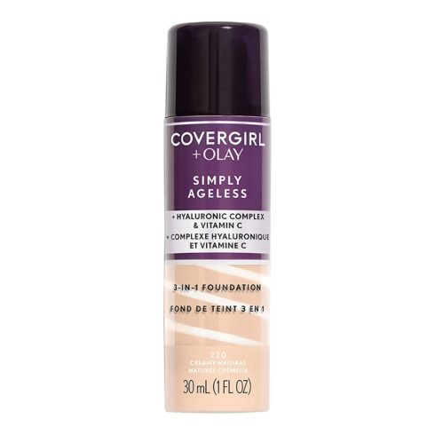 Covergirl & Olay Simply Ageless 3-in-1 Liquid Foundation, Creamy Natural