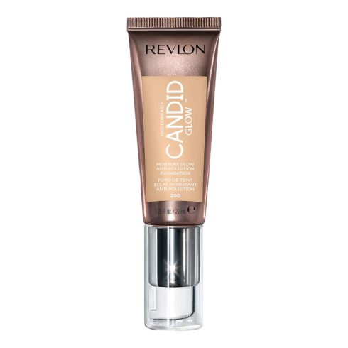 Revlon PhotoReady Candid Glow Moisture Glow Anti-Pollution Foundation with Vitamin E and Prickly Pear Oil, Anti-Blue Light Ingredients, without Parabens, Pthalates, and Fragrances, Nude, 0.75 oz